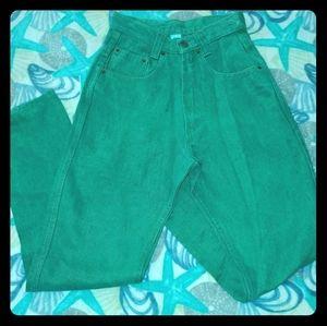 Vintage Ecolution 100% Hemp Green Jeans New